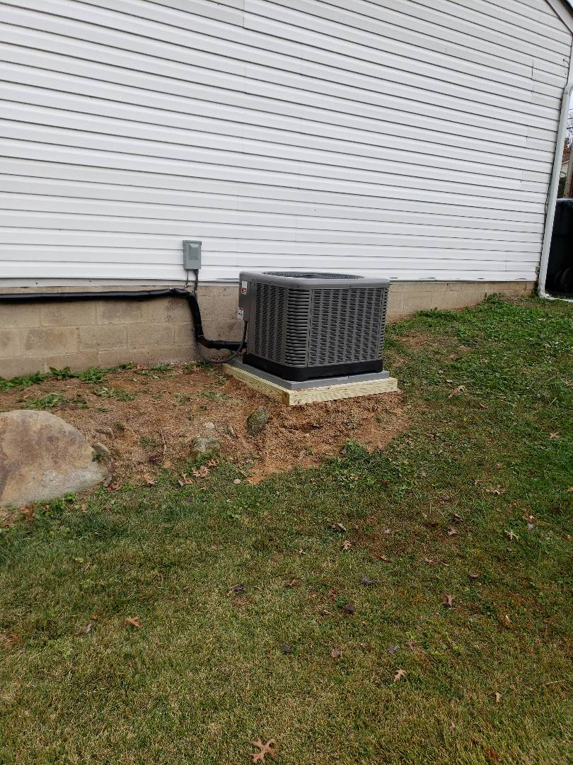 Aberdeen, MD - Installed new Rheem gas furnace and air conditioning system