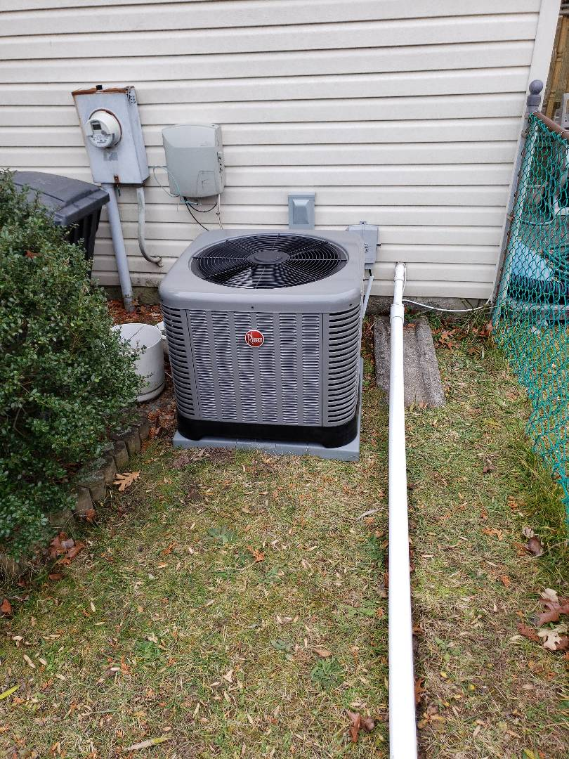 Nottingham, MD - Installed new Rheem gas furnace and air conditioning