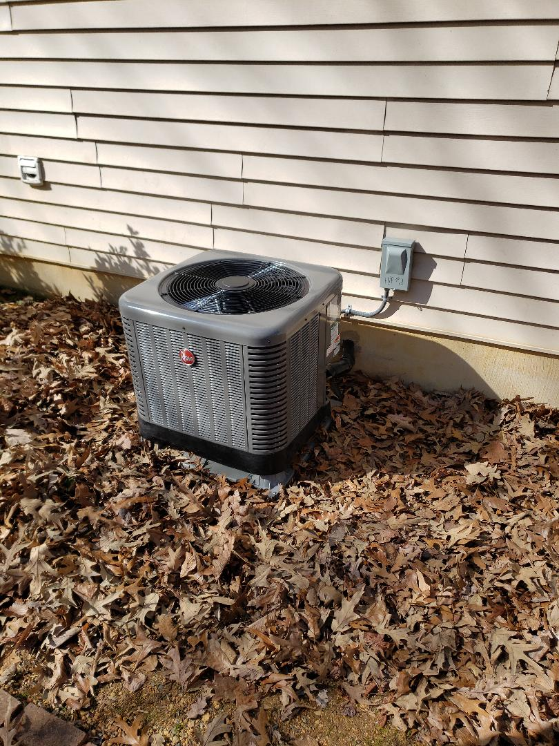 Elkton, MD - Installed new Rheem heat pump system