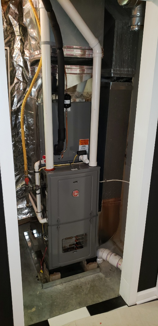 Forest Hill, MD - Installed new Rheem gas furnace and air conditioner