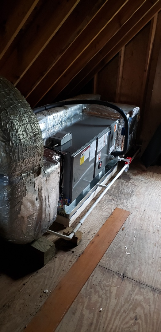 Darlington, MD - Installed new Rheem air handler and outdoor unit