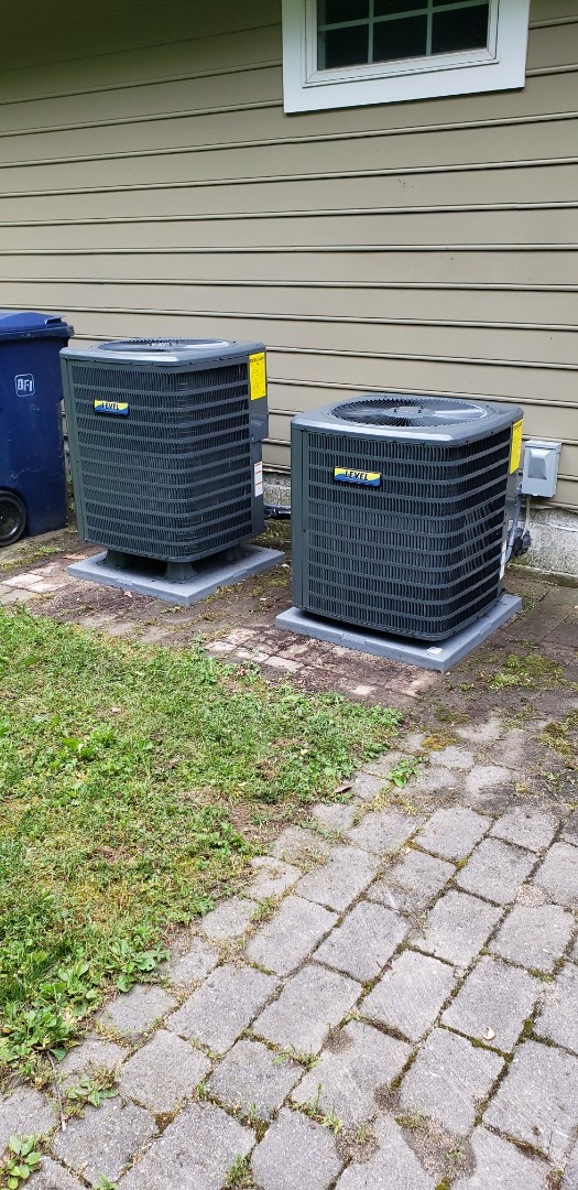 North East, MD - Installed new Goodman heat pump system and gas furnace with air conditioning