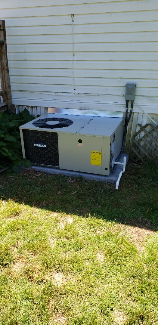 Darlington, MD - Installed new Broan a/c package unit