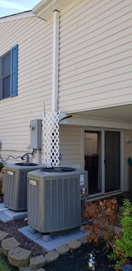 Abingdon, MD - Installed new Lennox heat pump system