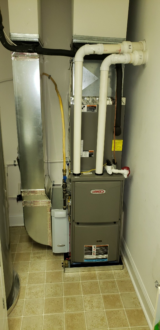 Belcamp, MD - Installed new Lennox gas furnace and air conditioner