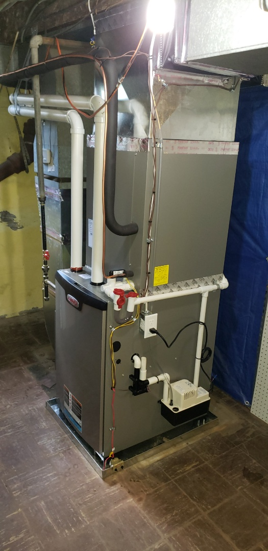 Baltimore, MD - Installed new Lennox gas furnace and air conditioner