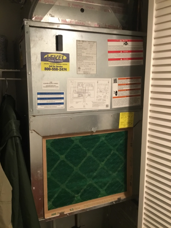 Abingdon, MD - Preventative maintenance on Goodman electric furnace.
