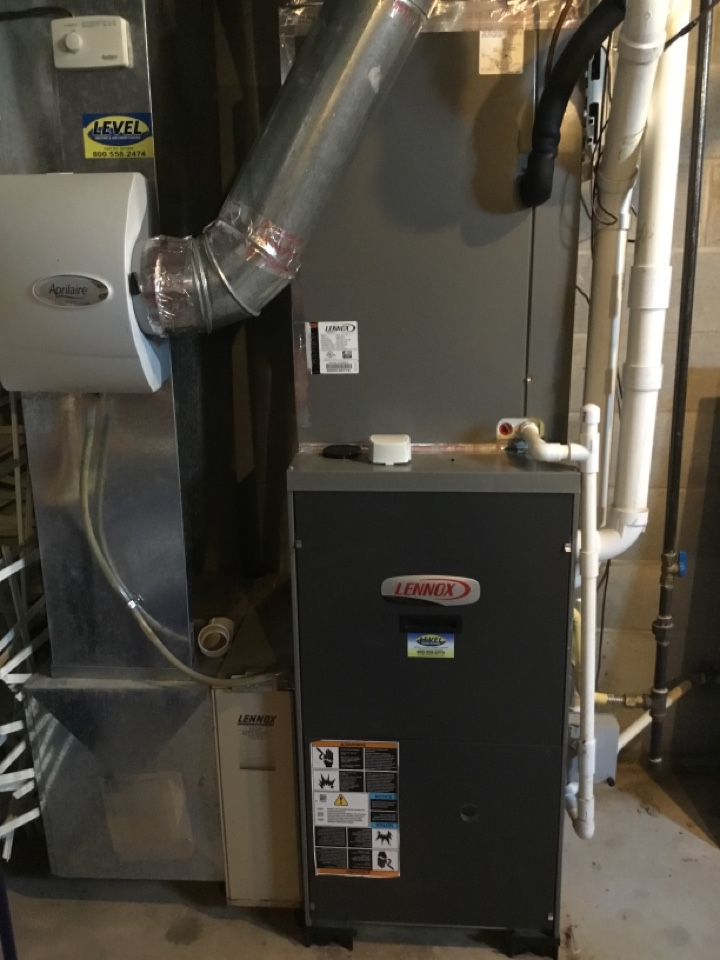 Forest Hill, MD - Preventative maintenance on Lennox gas furnace.
