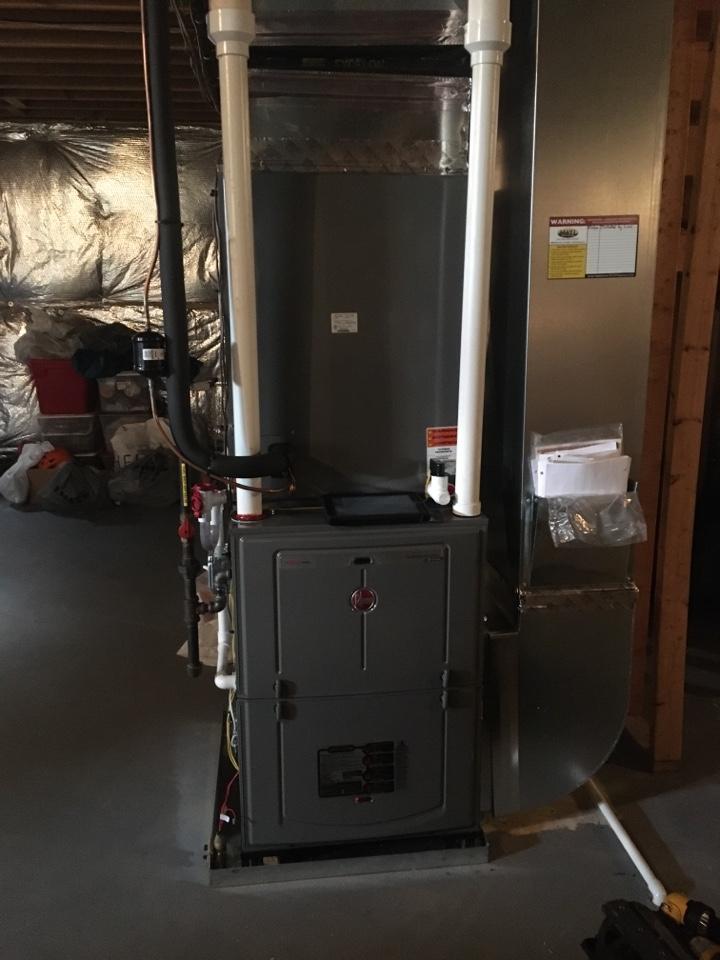 Elkton, MD - Preventive maintenance on Rheem gas furnace tune up