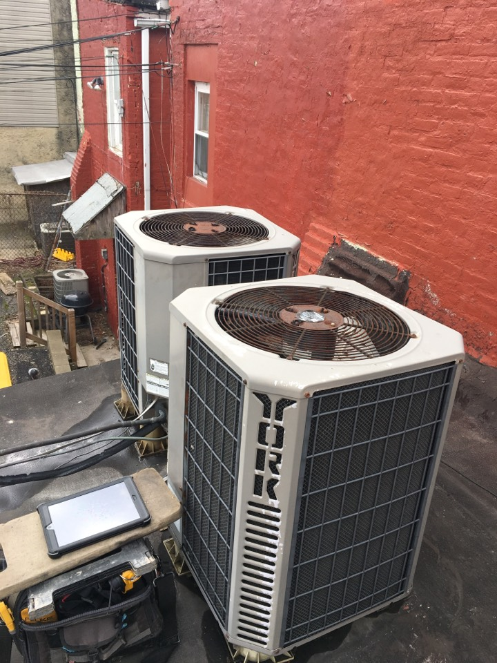 Baltimore, MD - Preventive maintenance on york heat pump tune up gas furnace Lennox