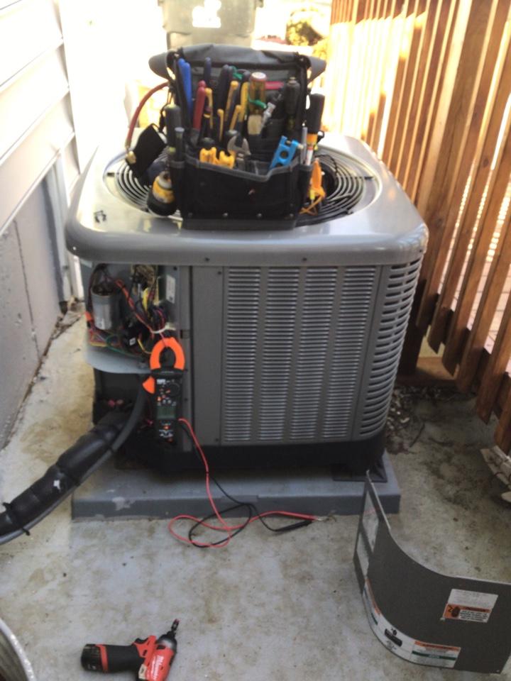 Port Deposit, MD - Preventive maintenance on Rheem Heat Pump