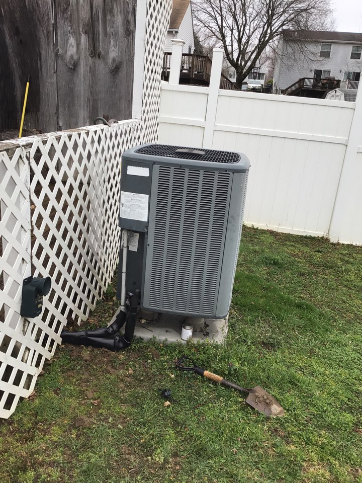 Aberdeen, MD - Return to install a new thermostat and add electrical conduit outside