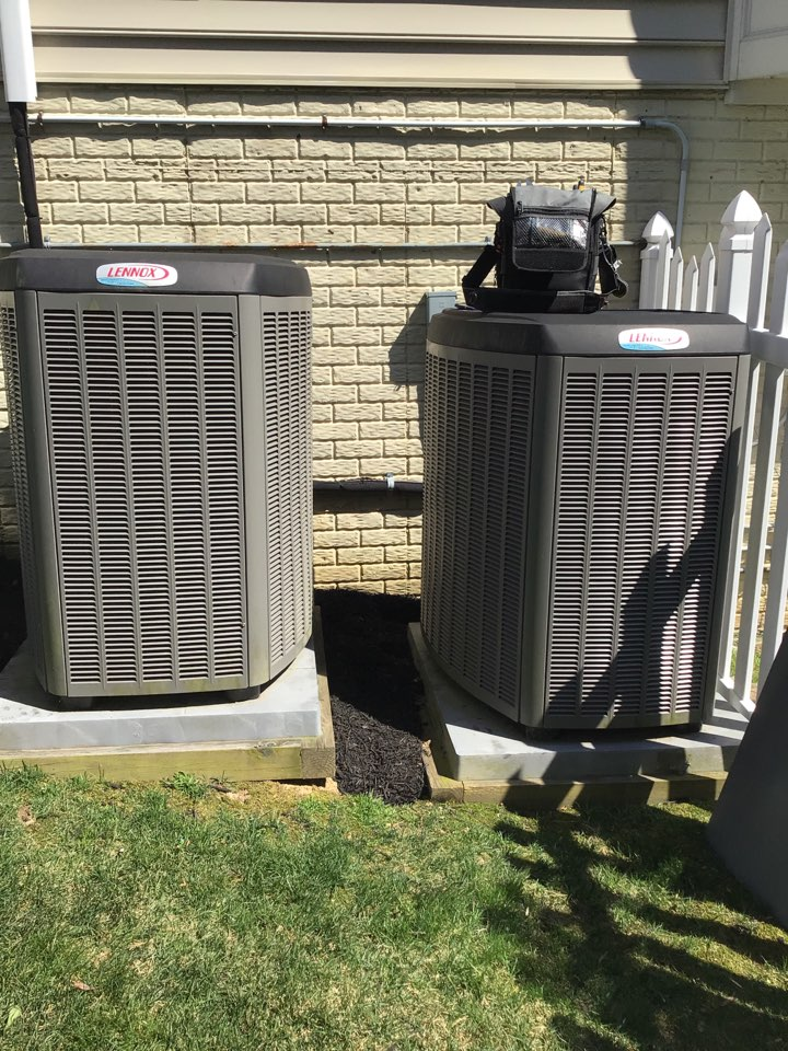 Bel Air, MD - Preventive maintenance on 2 Lennox air conditioners