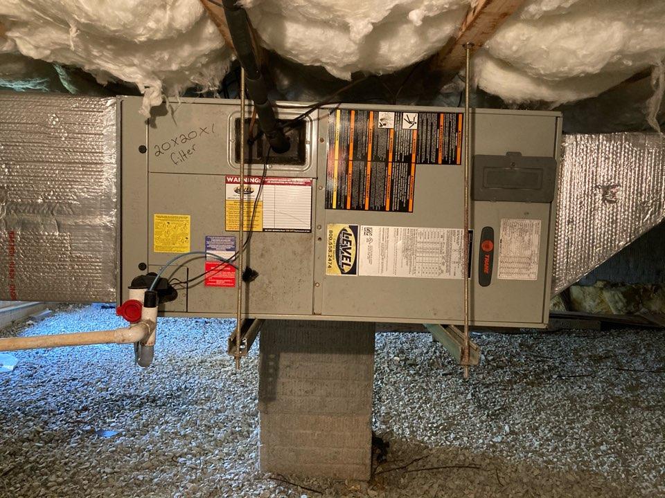 Edgewood, MD - Preventive maintenance on trane heat pump tune up