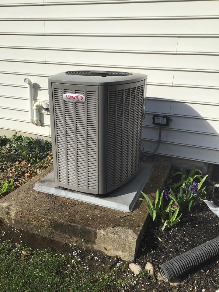 Havre de Grace, MD - Preventive maintenance on a Lennox air conditioner