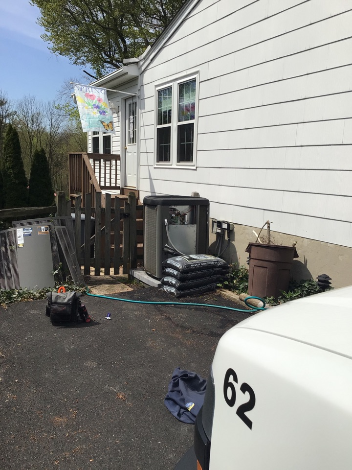 Forest Hill, MD - Preventive maintenance on a Lennox air conditioner
