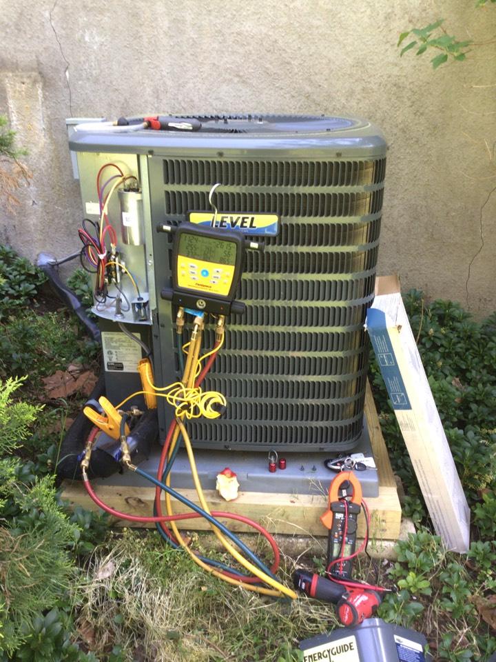 Churchville, MD - Preventive maintenance on a Goodman air conditioner