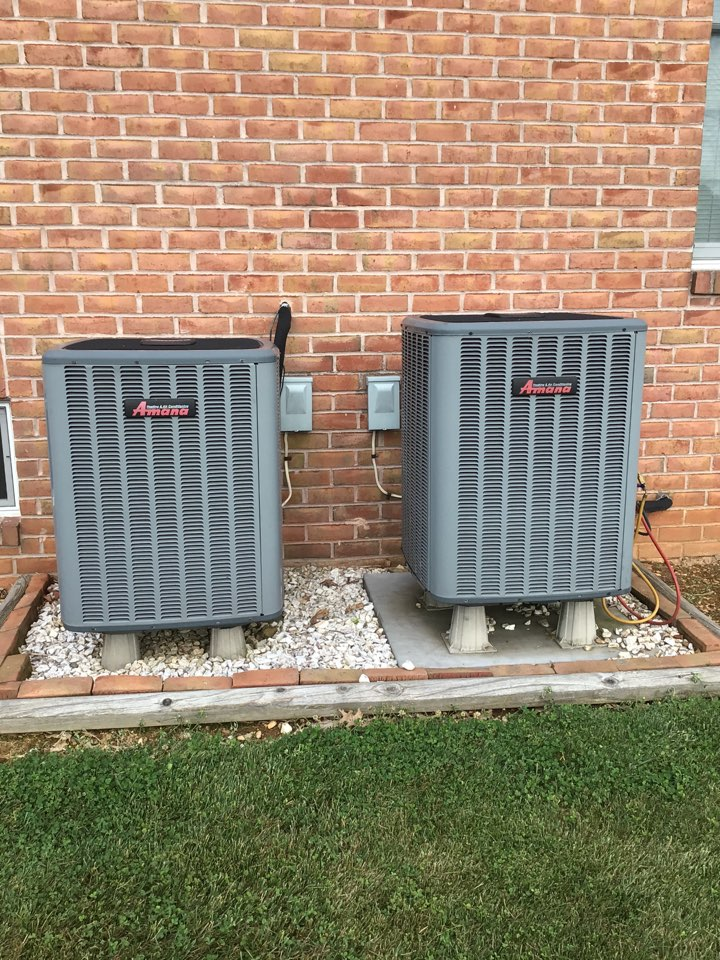 Forest Hill, MD - Preventive maintenance on 2 amana heat pumps.