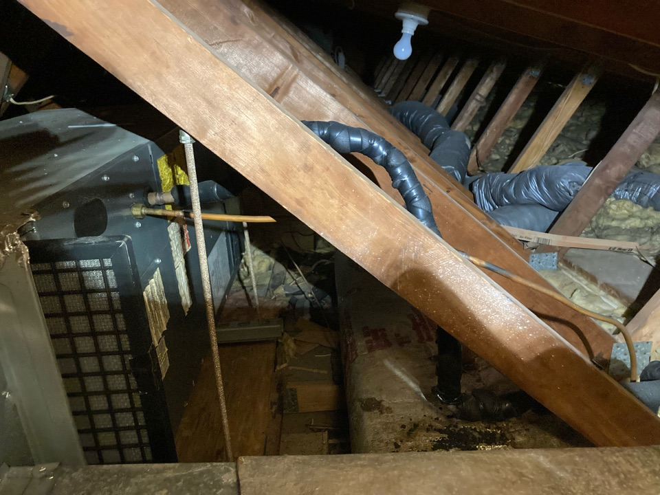 Perryville, MD - Air handler check attic unit