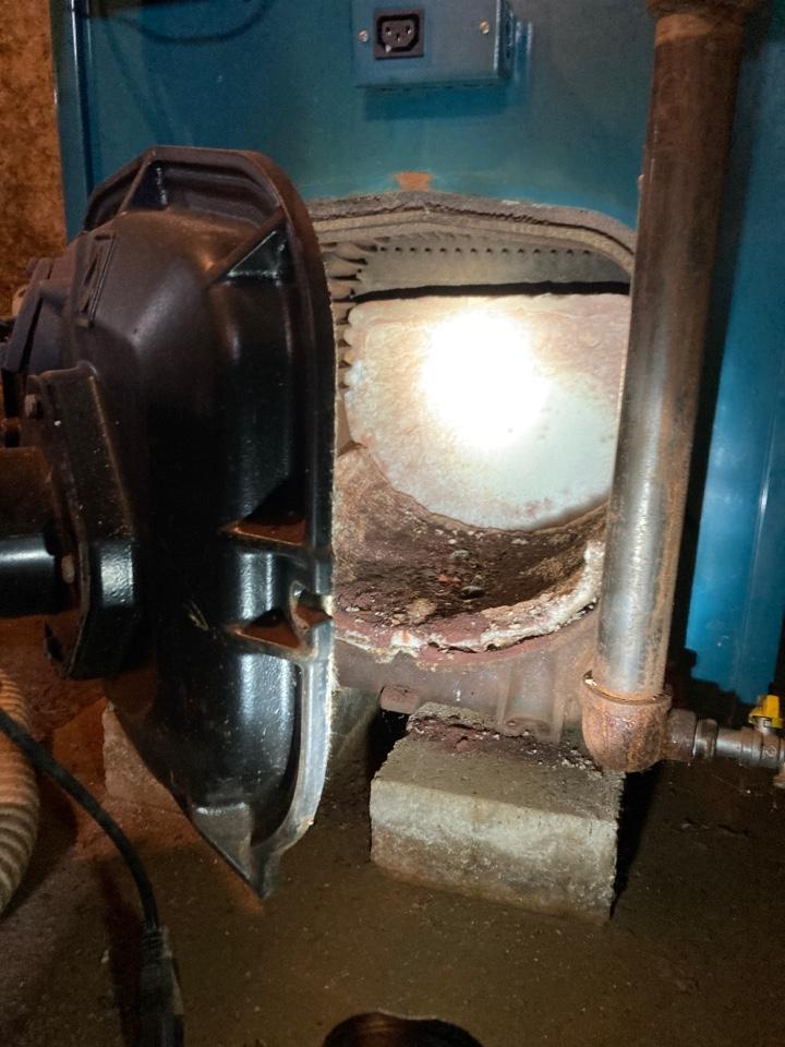 Darlington, MD - Preventive maintenance on burnham oil boiler