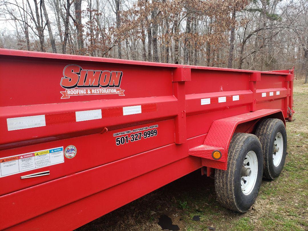Conway, AR - Simon Roofing & Restoration Inc.  PJ trailers