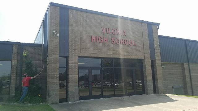 Vilonia, AR - Replacing Metal Wall Panels at Vilonia High School