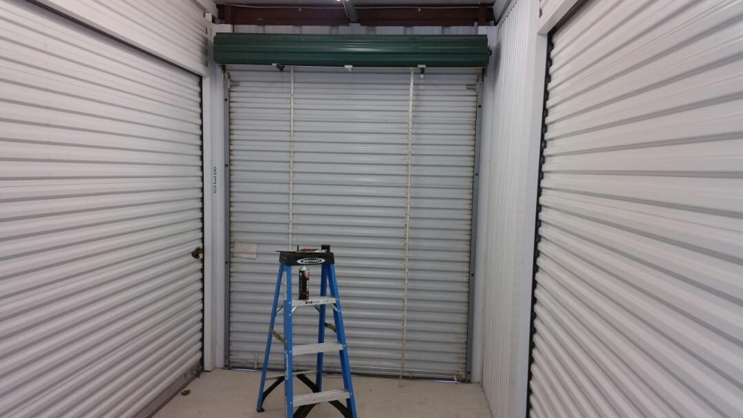 Round Rock, TX - Rolling sheet doors need additional tension on springs and lubrication.  We added tension and lubricated as needed.