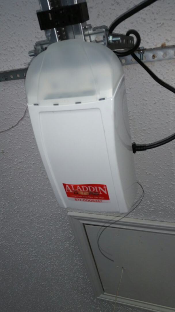 Austin, TX - Replaced an old genie garage door opener with a new aladdin doors 260 model belt drive opener that is extremely quiet!