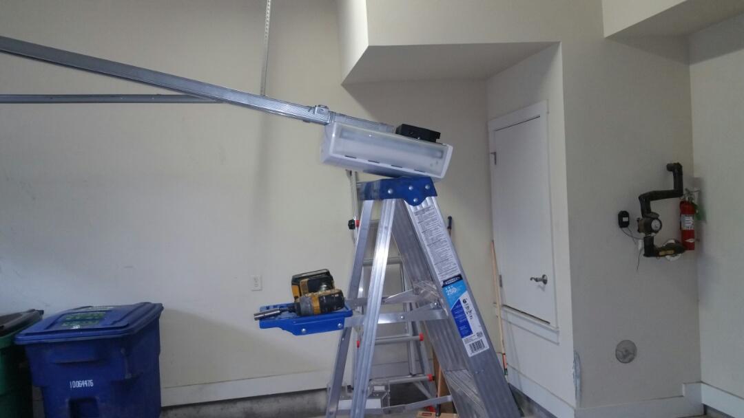 Austin, TX - Installed a new marantec synergy 370 belt drive garage door opener.