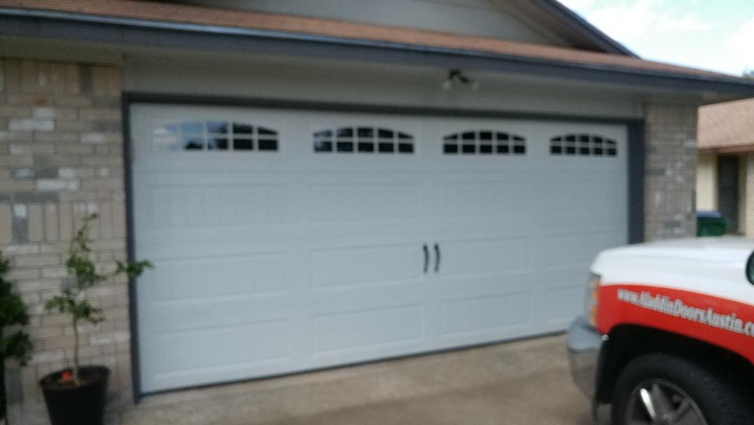 Pflugerville, TX - Replace 16 x 7 garage door in Pflugerville