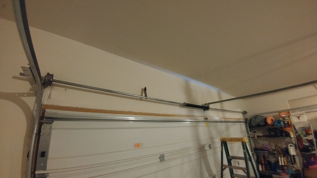 Round Rock, TX - Replace Springs, torsion tube drums on 16x7 garage door in Round Rock