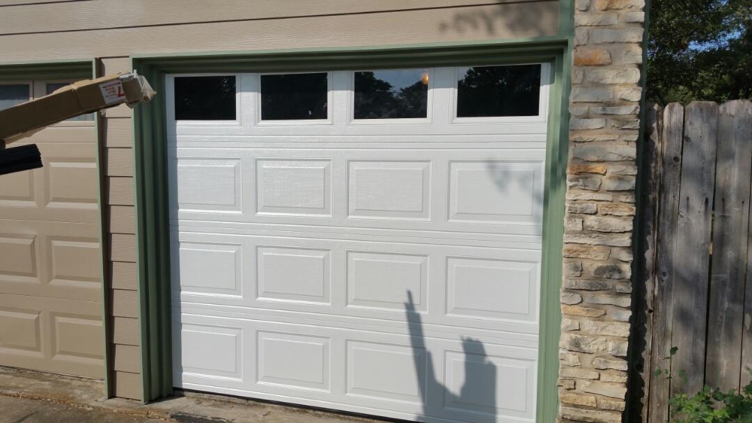 Cedar Park, TX - Replaced an 8 x 7 garage door.