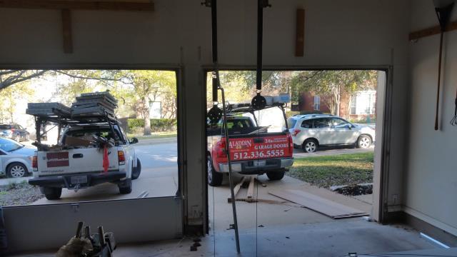 Georgetown, TX - Garage Door installation in Georgetown. Installed 2 Single Doors.