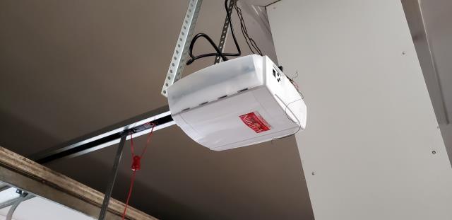 Georgetown, TX - Garage Door opener installation. Installed a belt driven Marantec garage door opener for an 8 X 7 garage door.