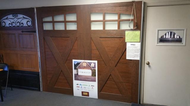Buda, TX - Replaced a garage door with a garage door with windows in Buda, Texas