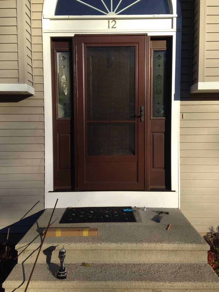 Shrewsbury, MA - Renewal by Andersen Boston replacing miscellaneous screen door parts