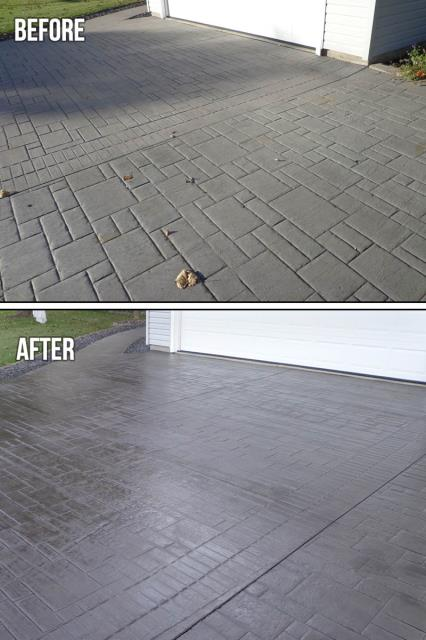 Winter Park, FL - The authentic look of large stone or traditional stamped concrete without breaking the bank Create over-sized stones on pool decks, patios, porches, and more.