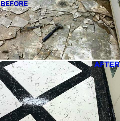 Gainesville, FL - Transform any room into a spectacular look with a Italian Marble Floor!! Leave your guests speechless when they see this floor and find out it's concrete!!