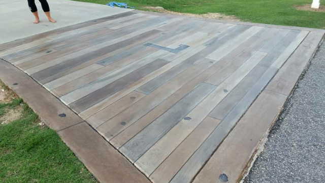Gainesville, FL - We recently had our driveway and walkway done in the Graniflex and Concrete Rustic Wood system. We couldn't be any more pleased with the results Paul and his team created!!! Paul is very conscientious and does amazing work. We personally recommend Gulfcoast Artistic Concrete for your next project or even business needs!