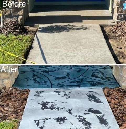 Tampa, FL - Paul and his crew remodeled our sidewalk/front porch, and it looks absolutely stunning!! We were looking for something unique to stand out amongst our neighbors, and Gulfcoast Artistic Coatings delivered precisely that! Paul was professional, paid attention to detail, and didn't cut corners. This company is highly recommended!