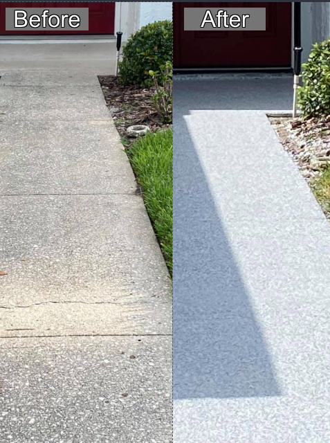 Apopka, FL - We recently had our walkway done in the Graniflex system and couldn't be more pleased with the results! Paul is very conscientious and does amazing work! He and his crew were on time, polite, and did exactly what they said they were going to do! My walkway has never looked better! I highly recommend Gulfcoast Artistic Concrete!!