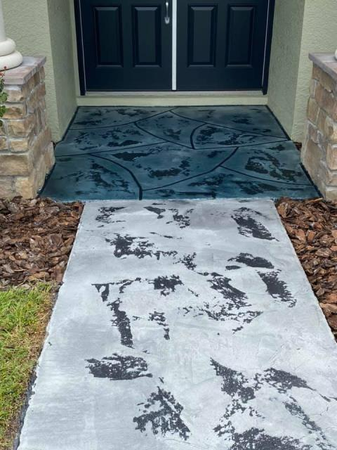 Ocala, FL - I am beyond pleased with Paul Connelly of Gulfcoast Artistic Concrete. I had called a couple of different contractors to come out and take a look at my sidewalk/entrance. They would all give me a ridiculously high price for the job and a rough time estimate for completion. Paul came out and gave me a fair price and a time to expect the job to be done. He did not cut any corners or overcharge me like the other contractors! I am very grateful I called Paul and decided to go with them! The result is absolutely stunning, and I couldn't be happier! 10/10 would recommend and use again in the future!!