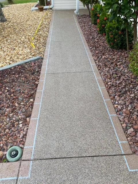 Tampa, FL - 100% satisfied overall experience with Gulfcoast Artistic Concrete! Paul was professional, detail-oriented, and respectful. He provided a fair price for quality work without cutting corners! The result of their hard work was a beautiful sidewalk! Highly recommend!