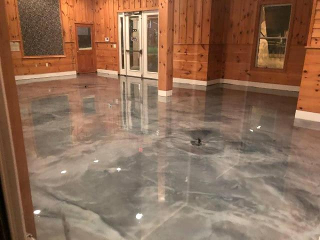 Beautiful design, a proud shine, breath-taking quality, I could not be more impressed with this floor! I love the marble look! GulfCoast Artistic Concrete does some fine work! I highly recommend their expertise for anyone that needs decorative concrete coatings!
