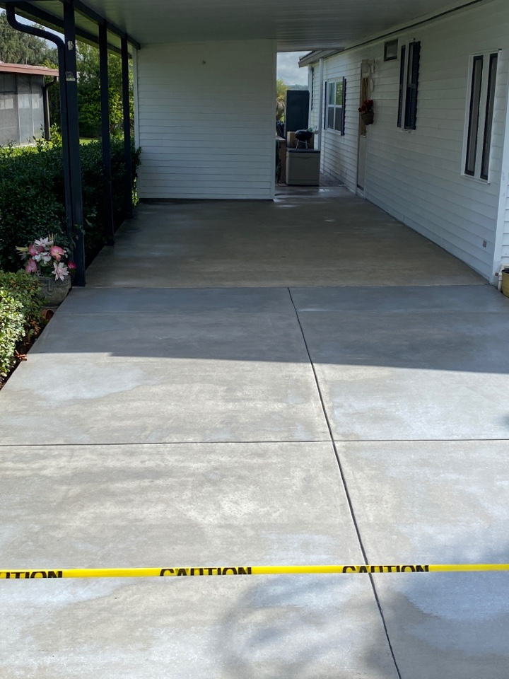Belleview, FL - We are about to start another concrete coatings project! Near Belleview Florida.
