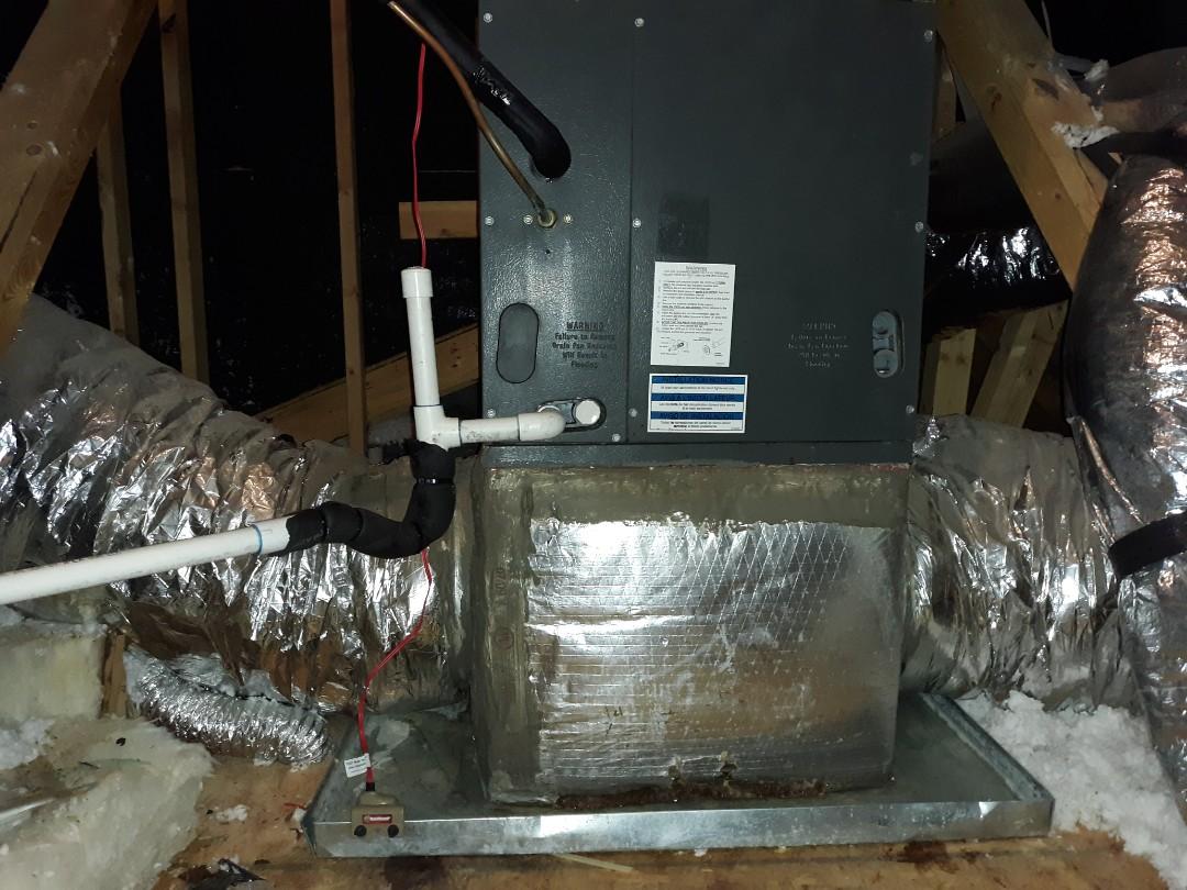 Smiths Station, AL - Rheem air conditioner repair.  Ac dripping water. Drain clean.  Maintenance