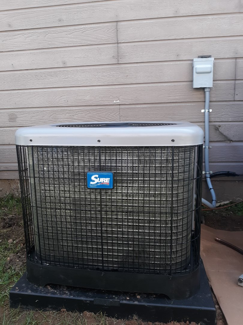 Columbus, GA - Install new sure comfort heating and cooling system.  10 year warranty.