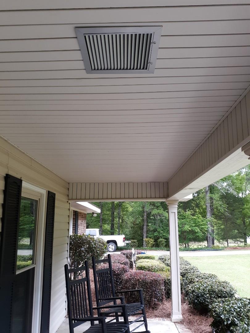 Phenix City, AL - Ruud heat pump maintenance.  Fresh air filtration system.