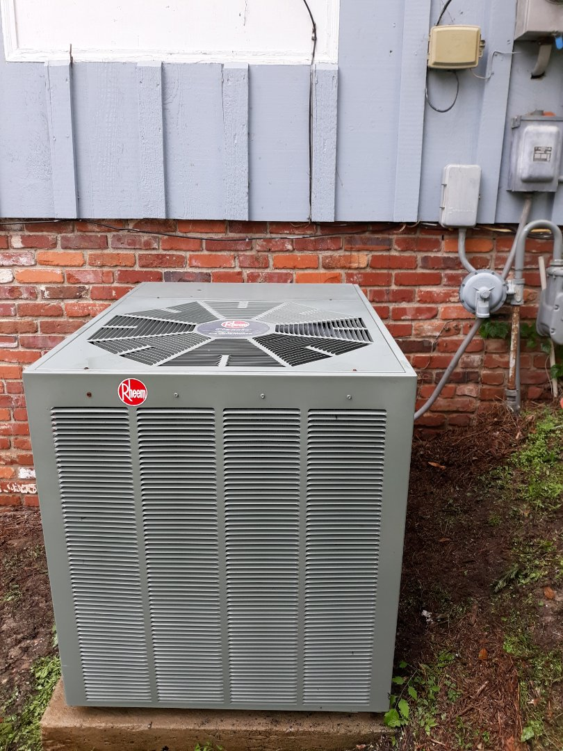 Columbus, GA - Service call Rheem air conditioner. Spring Maintenance and tune up
