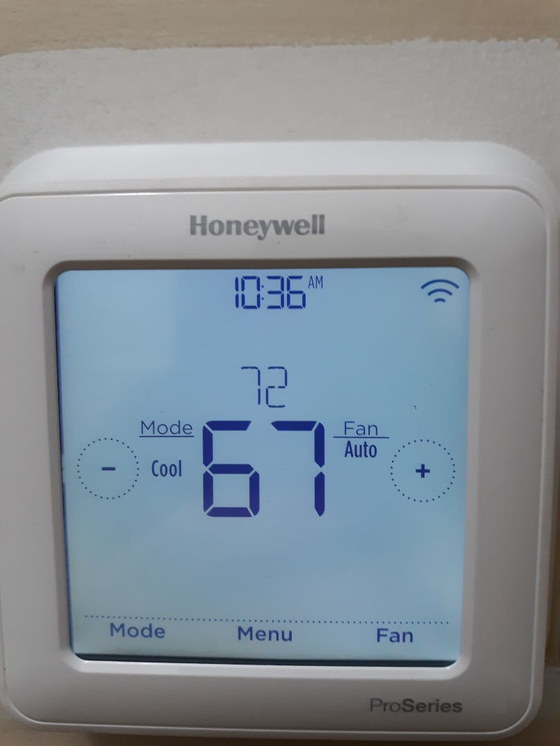 Columbus, GA - Install Honeywell wifi thermostat.  Wiring repair.  Install new capacitor.  Air gaps sealed.  Extended warranty.  Ac maintenance